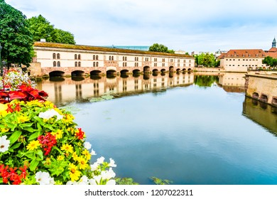 Strasbourg, France: Vauban Dam (Barrage Vauban), a bridge, weir and defensive work erected in the 17th century on the River Ill in the Little France quarter, at that time known as the Great Lock.