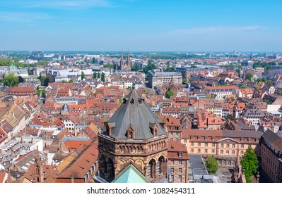 Strasbourg, panoramic view of the old Town, France
