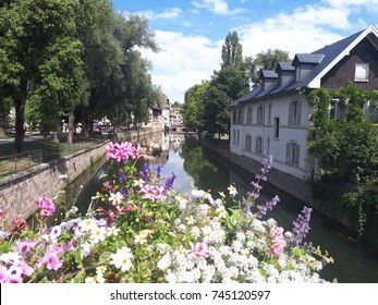 Strasbourg, Petite France district with view on the Rhin - Shutterstock ID 745120597