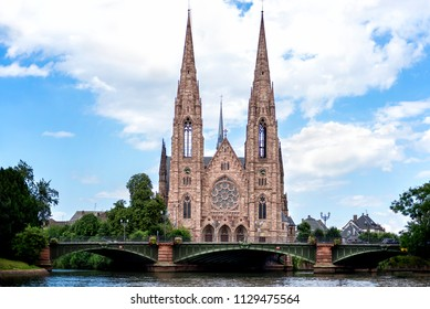Strasbourg: St. Paul's Church of Strasbourg (Eglise Saint-Paul de Strasbourg, 1897) is a major Gothic Revival architecture building and one of the landmarks of the city of Strasbourg. Alsace, France