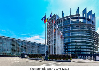 STRASBOURG,FRANCE-AUGUST 29,2018:European Parliament in Strasbourg.