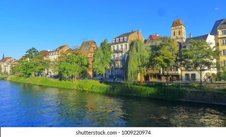 Strasbourg/France-September212016: Houses Buildings along the River