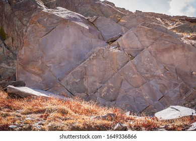 Strata of Slate is a fine-grained  homogeneous metamorphic rock derived from  shale type sedimentary rock composed of clay or volcanic ash. It is found in Himalayas in Himachal Pradesh, India.