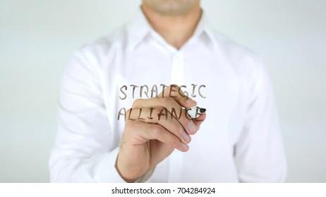Strategic Alliance, Man Writing on Glass