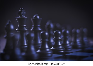 strategic decision and strategic move concept with chess