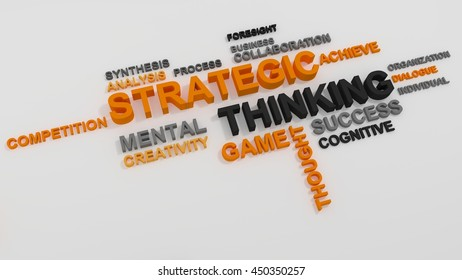 Strategic Thinking concept on white background 3D rendering