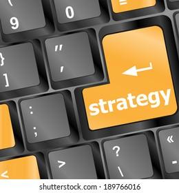 Strategy button on keyboard key button, keyboard keys