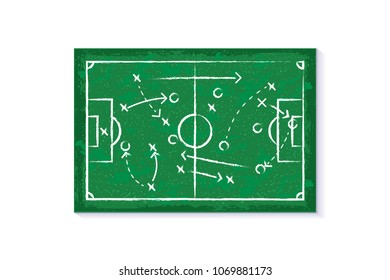 Strategy concept symbol or strategy sign illustration. Tournaments of football Russia world cup 2018, championship concept.
