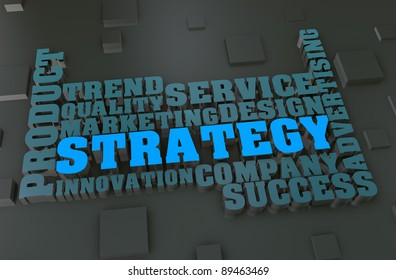 Strategy concept words