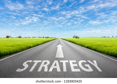 Strategy Road and cloudy sky