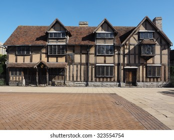 STRATFORD UPON AVON, UK - SEPTEMBER 26, 2015: William Shakespeare birthplace