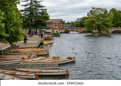 Stratford Upon Avon, United Kingdom - July 12, Bridge over the Avon on July 12, 2016 in Stratford, United Kingdom. An authentic coutryside town in England, birthplace of Shakespeare.