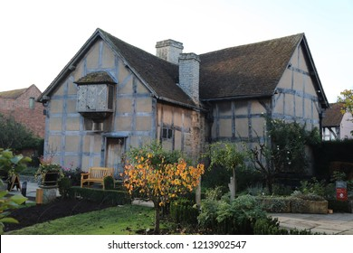 Stratford-upon-Avon - Oct 2018 - Shakespeare's Birthplace the 16th-century half-timbered house situated in Henley Street, Warwickshire, England