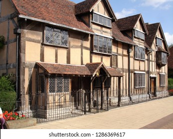 Stratford-upon-Avon, Warwickshire, England - July 2011: Shakespeare's Birthplace is a restored 16th-century half-timbered house situated in Henley Street in Stratford-upon-Avon, Warwickshire