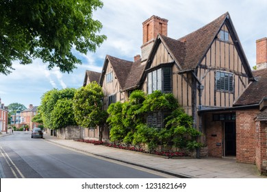 Stratford-upon-Avon, Warwickshire, England - JUNE 10 2018: Hall's Croft was home to Shakespeare's eldest daughter Susanna and her husband Dr John Hall