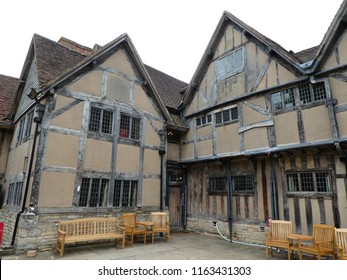 Stratford-upon-Avon, Warwickshire / UK - August 17, 2018: Hall's Croft, home of Susannah (Shakespeare's daughter) and her husband John Hall