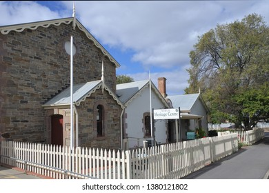 STRATHALBYN, SA - APR 22 2019:National Trust Museum in Strathalbyn that was settled in 1839 by Scottish immigrants on land that was a meeting place of Peramangk and Ngarrindjeri Aboriginal people.