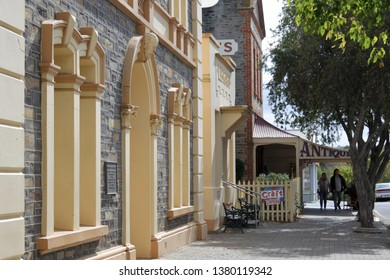 STRATHALBYN, SA - APR 22 2019:Tourist in Strathalbyn.Strathalbyn was settled in 1839 by Scottish immigrants on land that was a meeting place of Peramangk and Ngarrindjeri Aboriginal people.