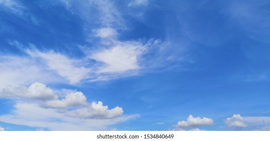 Stratocumulus white clouds in the blue sky natural background beautiful nature space for write - Shutterstock ID 1534840649
