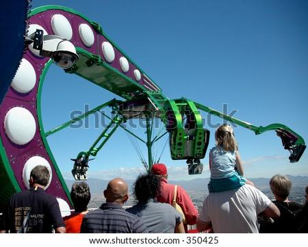 Stratosphere Tower Amusement Ride Las Vegas Stock Photo Edit Now