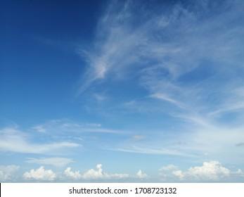 Stratus clouds in the sky.