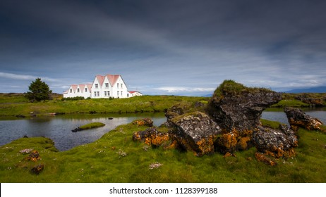 """Straumur"" a old historical building at Reykjanes peninsula in Iceland."