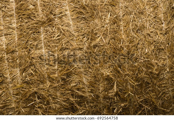 Straw background, haystack, countryside.