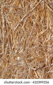 straw bale close up