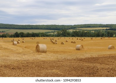 straw bales in the field France