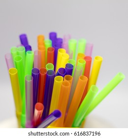 Straw colorful.