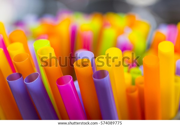 straw full color for soft drink
