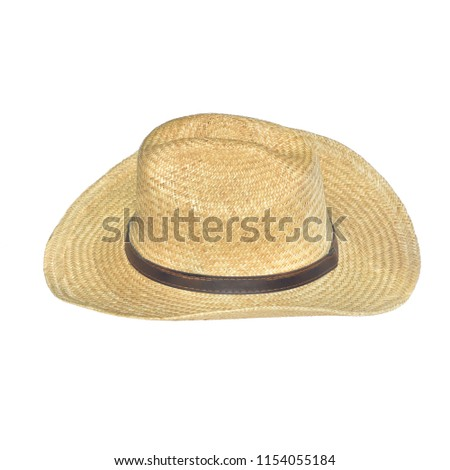 d4b3d37fc6a Straw Hat American Isolated Onwhite Backgriund Stock Photo (Edit Now ...