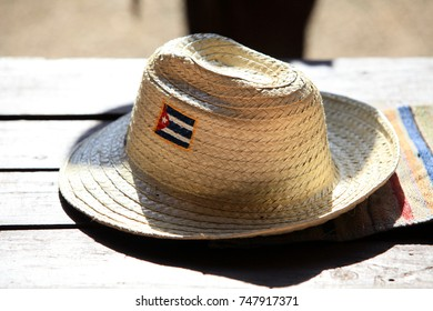 straw hat with a flag of Cuba