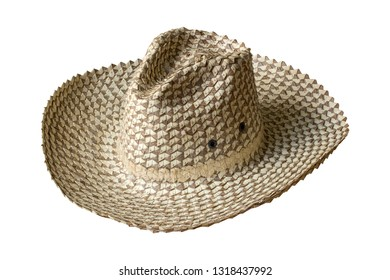 straw hat isolated on white background with clipping path