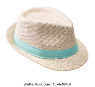 dc989572e610cd Straw hat isolated on white background. Women's summer hat.