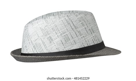 straw hat  isolated on white background .
