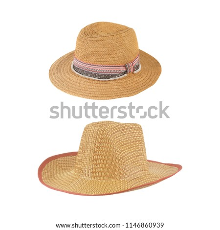03e139de8df Straw Hat Isolated On White Background Stock Photo (Edit Now ...