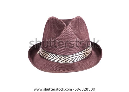 Straw Hat Isolated On White Background Stock Photo (Edit Now ... 343684b203a6