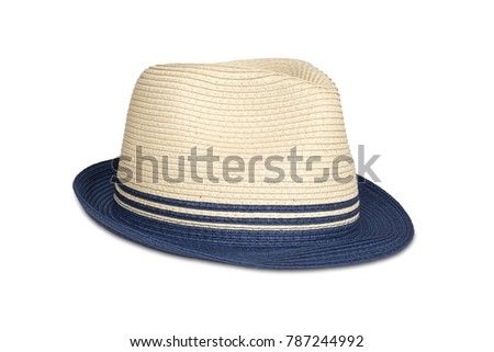64e4670d1a3 Straw Hat Isolated On White Clipping Stock Photo (Edit Now ...
