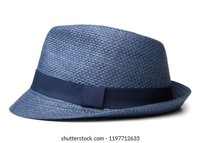 Straw hat for man on white background