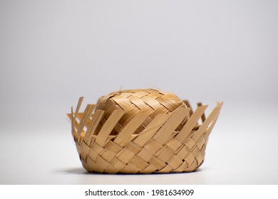 """Straw hat on a white background. Traditional object used in the June festivities in Brazil. Known as """"chapéu de palha"""" - Shutterstock ID 1981634909"""