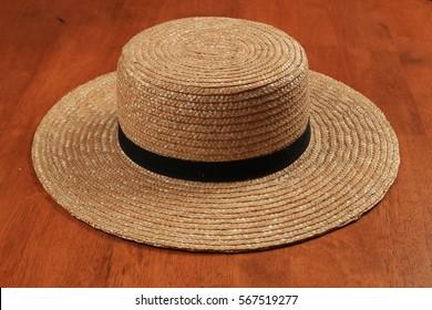 Straw Hat with plain design 4e735224773