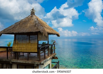 Straw hut over beach - Bali, Indonesia