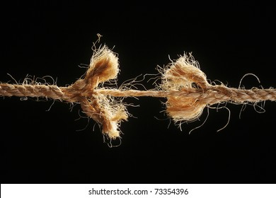 straw rope is in bad condition