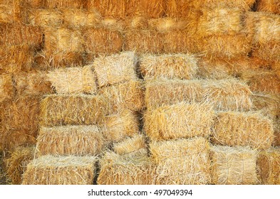Straw stacked background