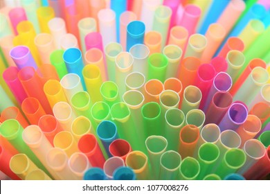 straw straws plastic drinking background colourful  full screen many group plastic single use ban banned straw  in EU concept - stock photo, stock photograph image picture