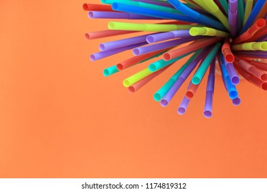 straw straws plastic drinking background abstract colourful  full screen