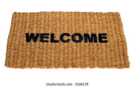 Straw welcome mat