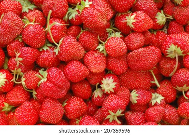 a lot of strawberries;  berries