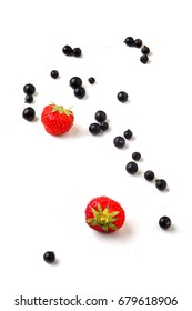 Strawberries and black currants